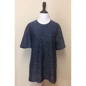 {Graff Californiawear} vintage sparkly blue top